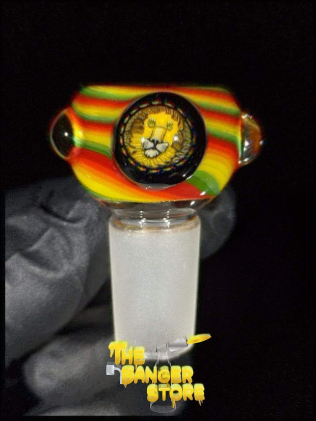 """Rasta Lion"" Flower Bowl Piece  - MessyGlass - The Banger Store"