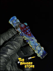 Red Frog One Hitter Chillum  - MessyGlass - The Banger Store