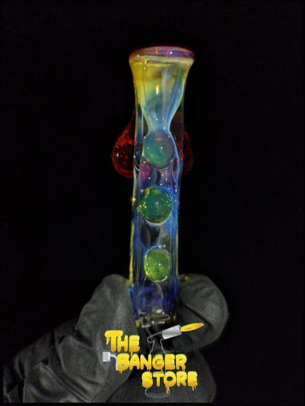 Red Titty One Hitter Chillum  - MessyGlass - The Banger Store