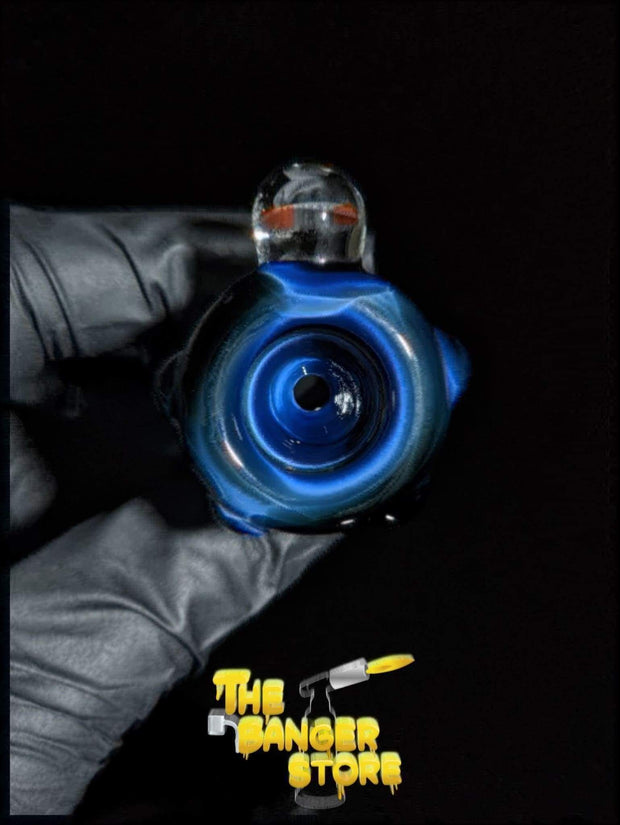 """Rocket"" 18mm Flower Bowl Piece  - MessyGlass - The Banger Store"