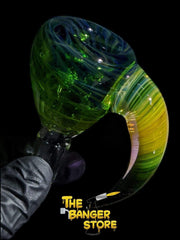 Silver And Gold Fumed Bowl Piece  - Crondo619 - The Banger Store