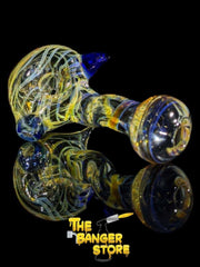 Standing Fumed And Blue Glass Pipe - The Banger Store