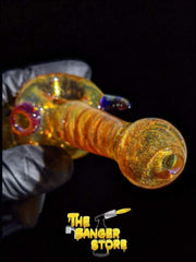Thick Spiral Horn Glass Pipe - The Banger Store