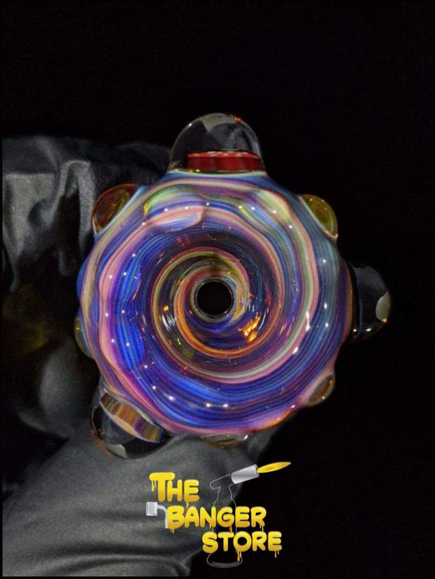 """Trippy Mushroom"" Milli Flower Bowl Piece  - MessyGlass - The Banger Store"