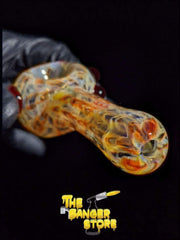 Unique Red Fumed Glass Wrap and Rake Pipe - The Banger Store