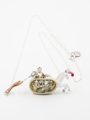 N2 Cinderella Pumpkin Carriage Necklace