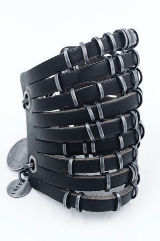 Anna Orska Poland Ducats Leather Cuff Bracelet