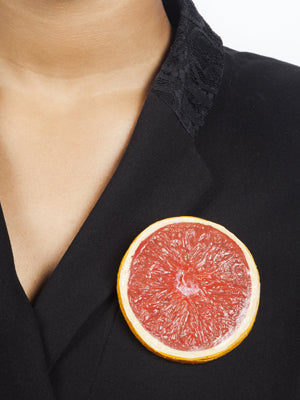 Ineke Otte Grapefruit Slice Brooch