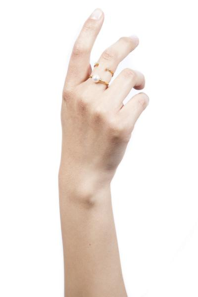 Pearl Infinity Double Ring