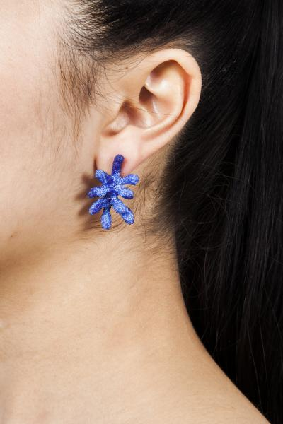 Blue Coral Earrings | Coral Inspired Earrings by Aisegul Telli Turkey