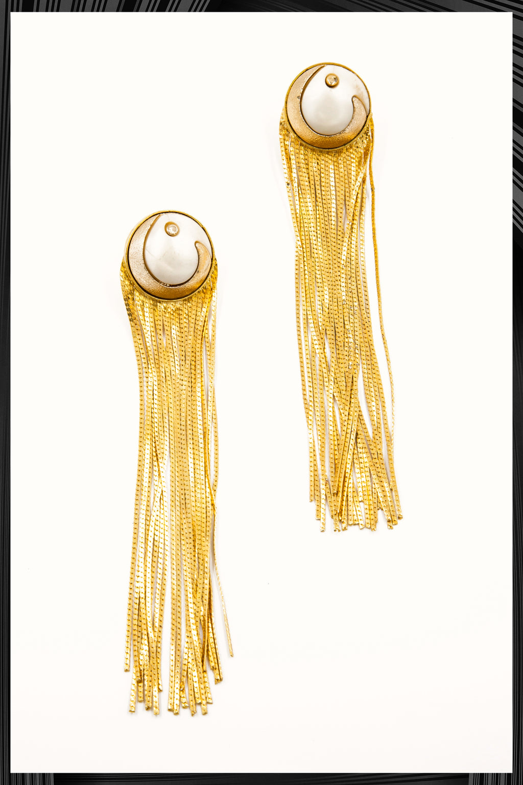 Gold Tassel Earrings | Quick Shipping