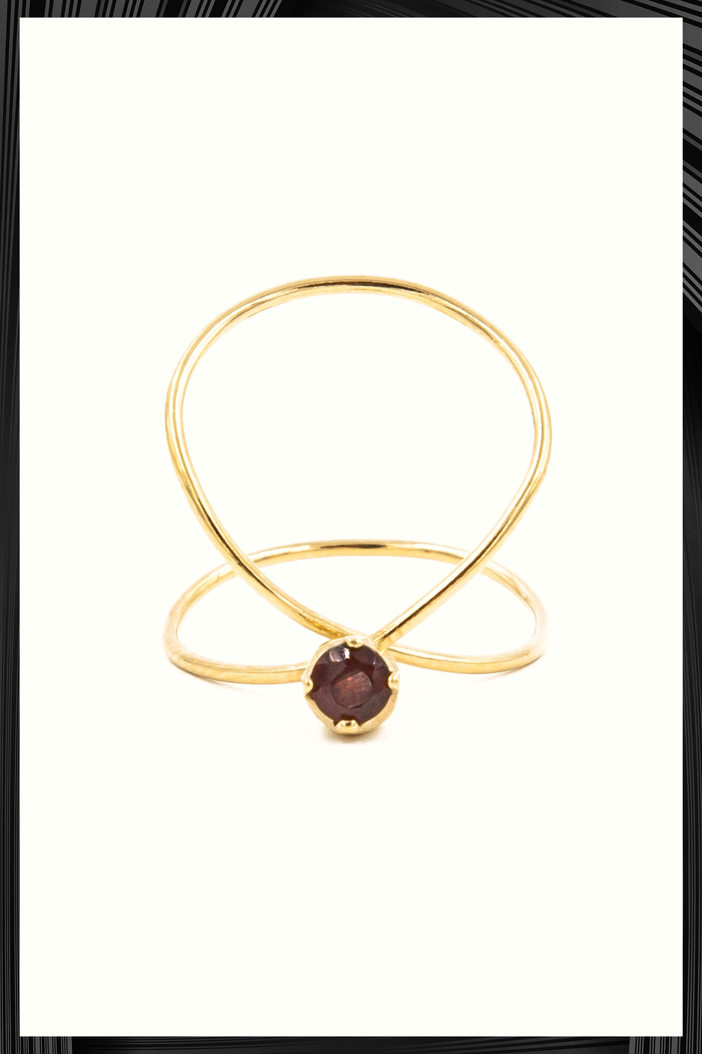 Garnet Infinity Ring | Free Delivery - Quick Shipping