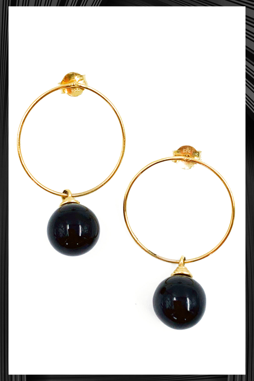 Onyx Hoops | Free Delivery - Quick Shipping