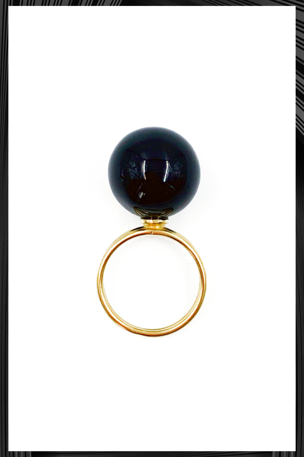 Onyx Double Ring | Free Delivery - Quick Shipping