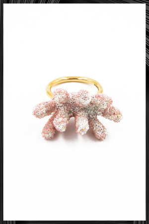 Pink Branch Coral Ring