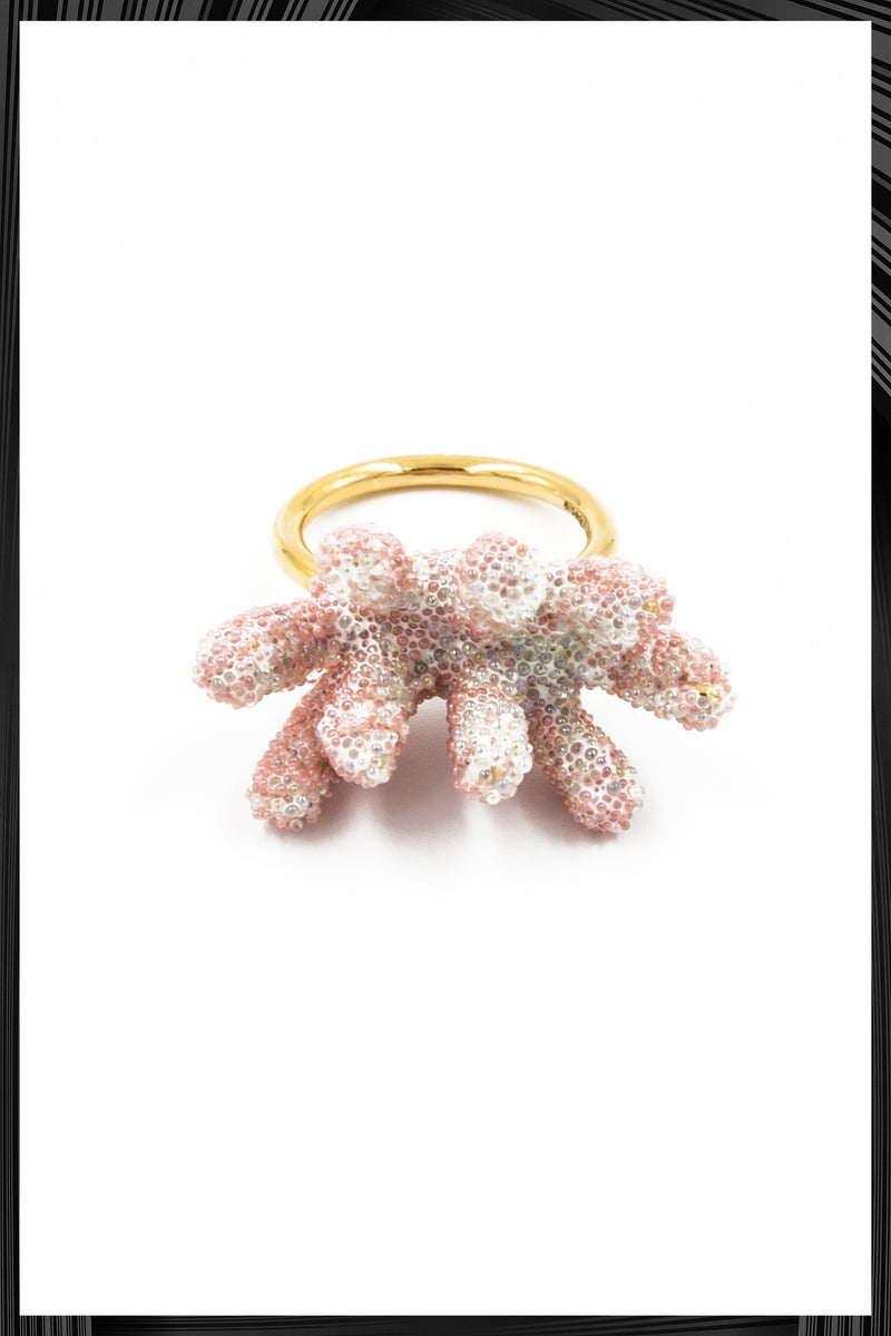Pink Branch Coral Ring  | Free Delivery - 1-2 Week Shipping
