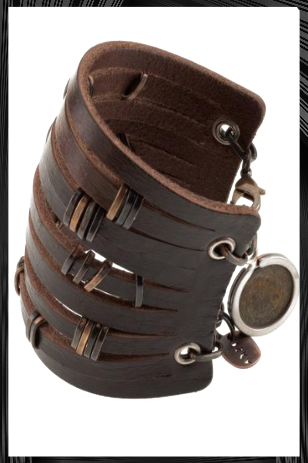 Leather Ducats Cuff