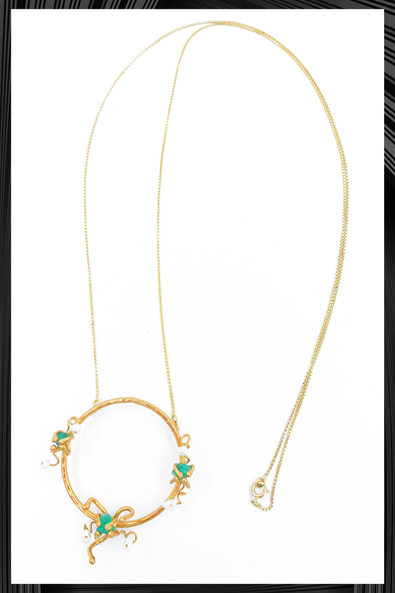 Magic Realism Emerald Necklace