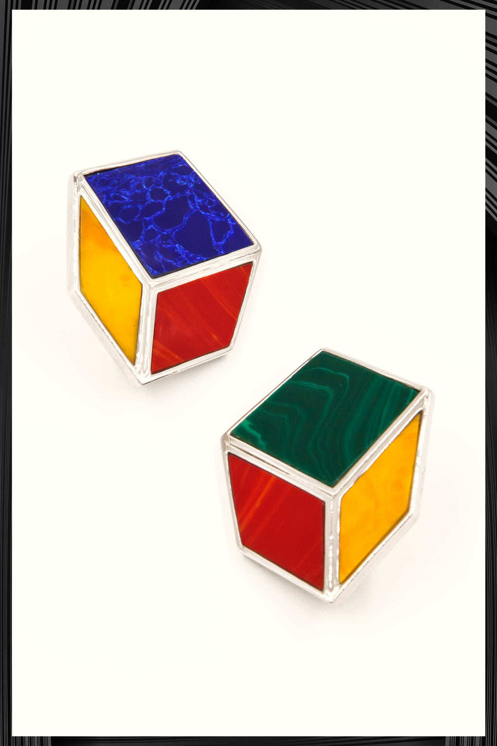 Venus Cube Clip Earrings | Free Delivery - Quick Shipping