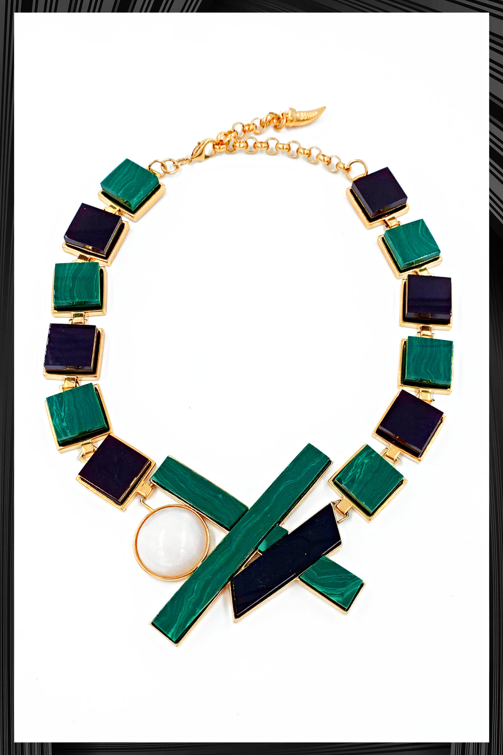 Malachite Moon Necklace | Free Delivery - Quick Shipping