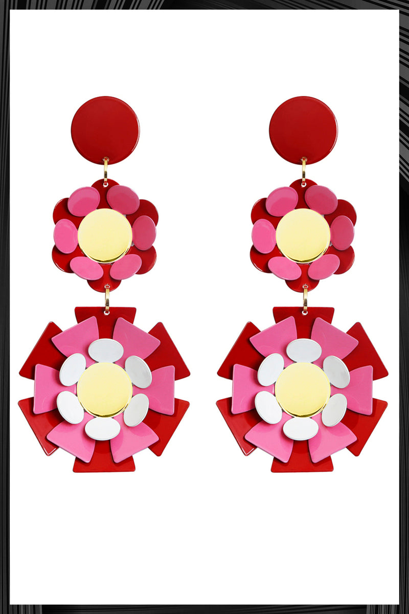 Red Sineria Earrings