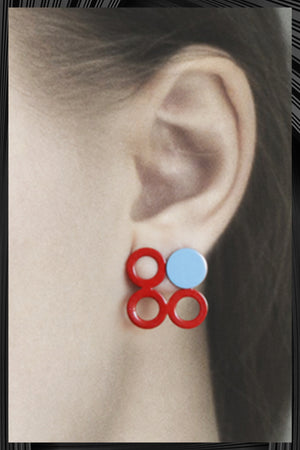 Red Dot Earrings | Free Delivery - 2-3 Weeks Shipping