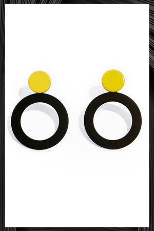 Yellow Round Earrings | Free Delivery - 2-3 Weeks Shipping