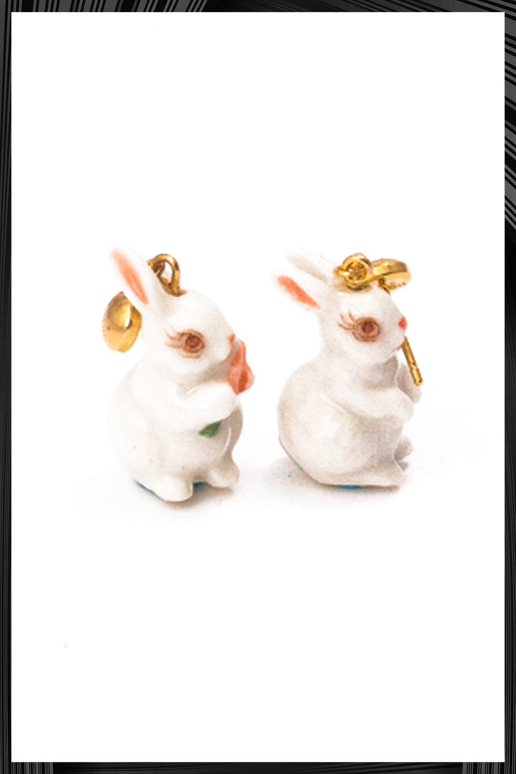 White Rabbit Carrot Earrings