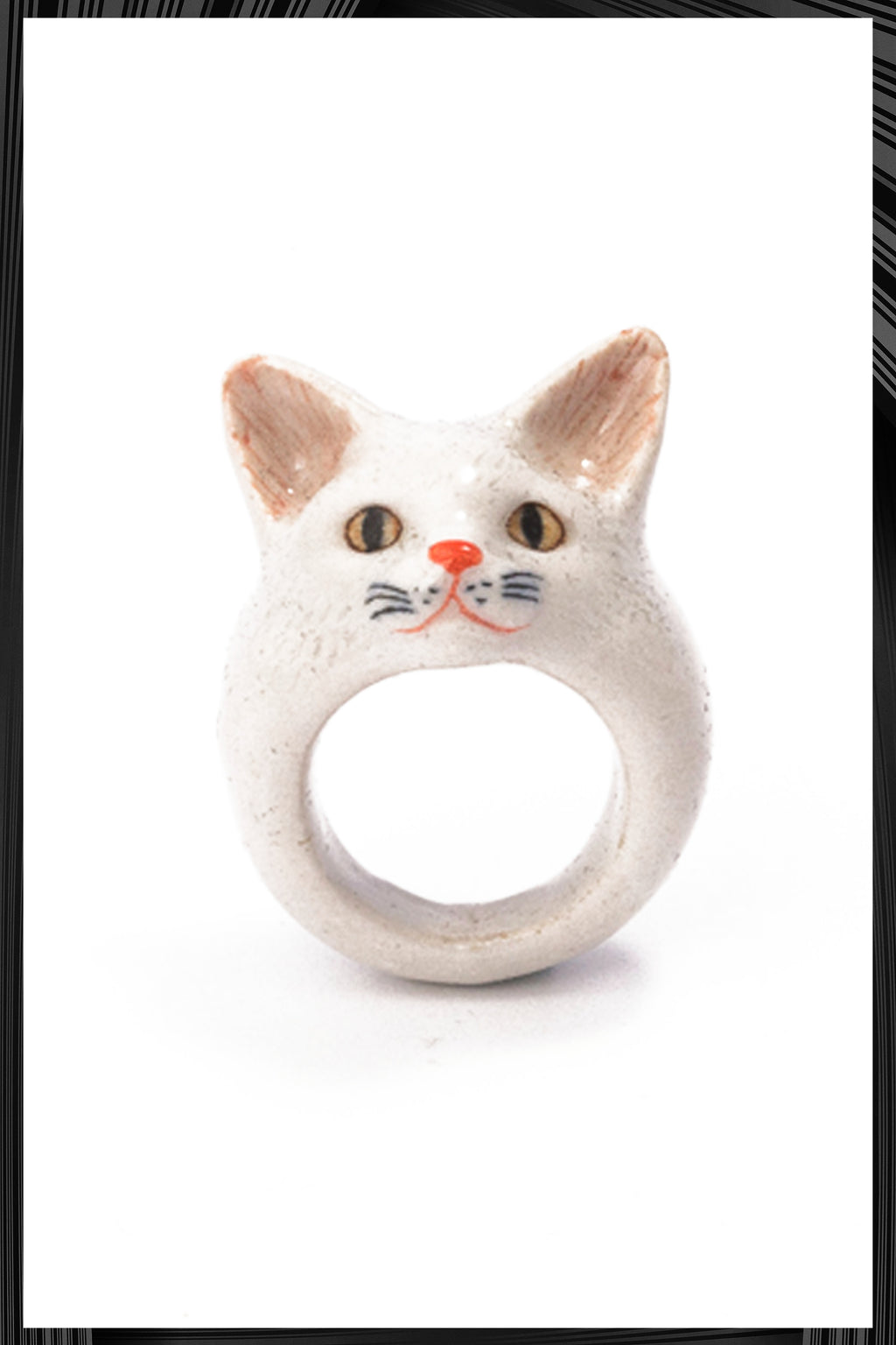 White Cat Ring | Free Delivery - Quick Shipping