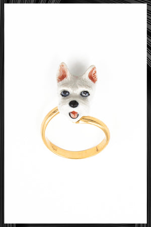 Scottie Dog Gold Ring