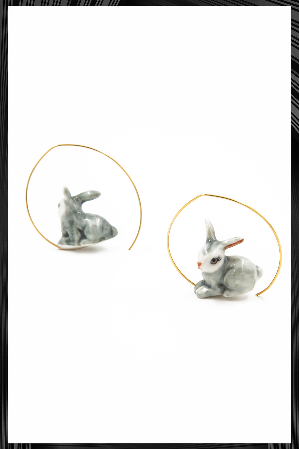 Gray Rabbit Earrings | Free Delivery - Quick Shipping