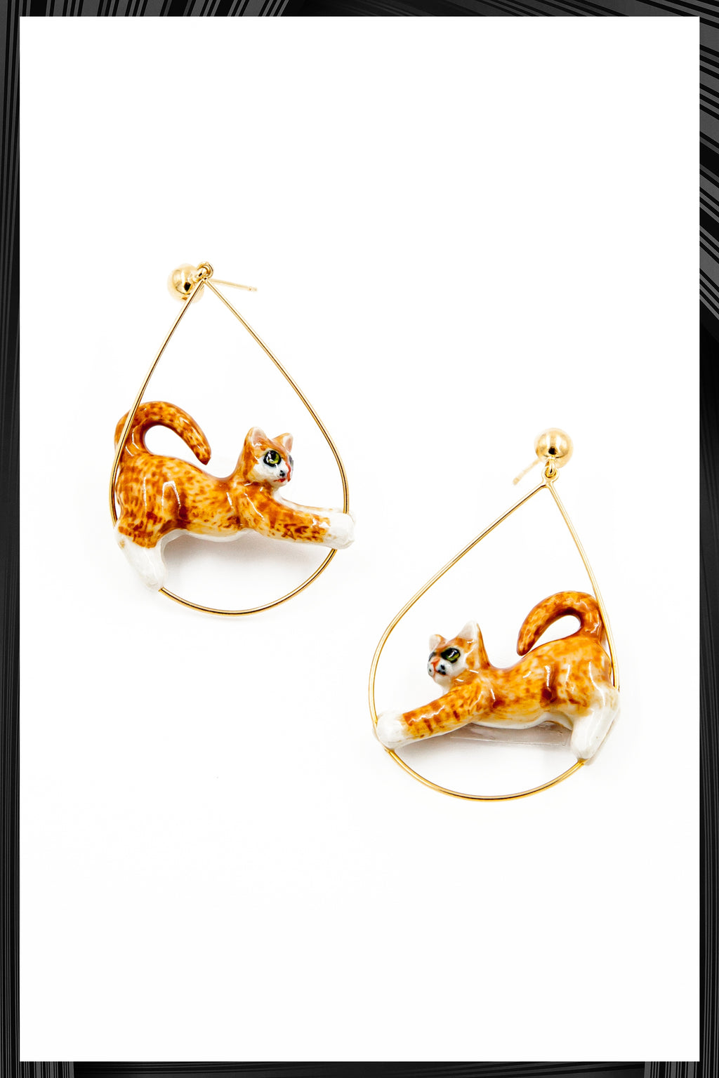 Ginger Cat Hoops | Free Delivery - Quick Shipping
