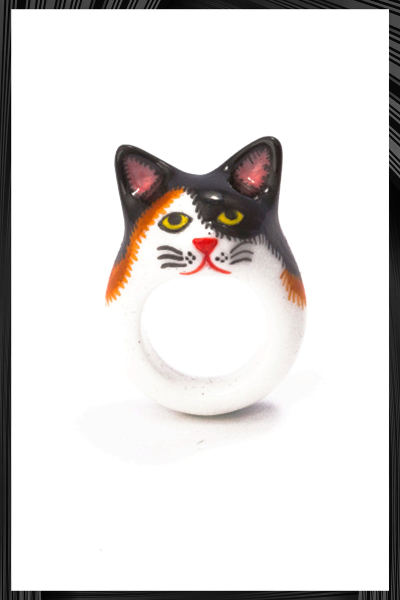 Calico Cat Ring