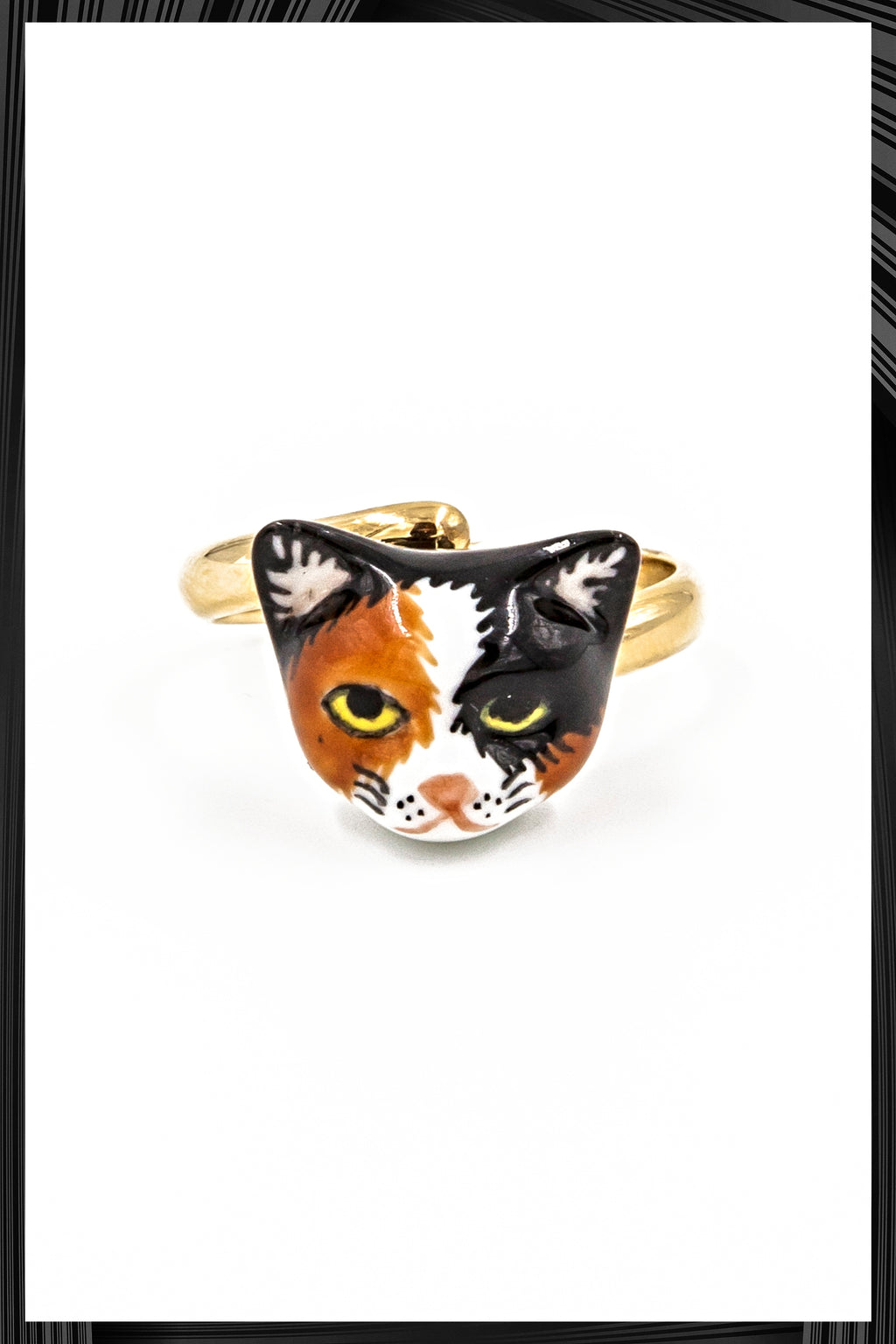 Calico Cat Gold Ring | Free Delivery - Quick Shipping