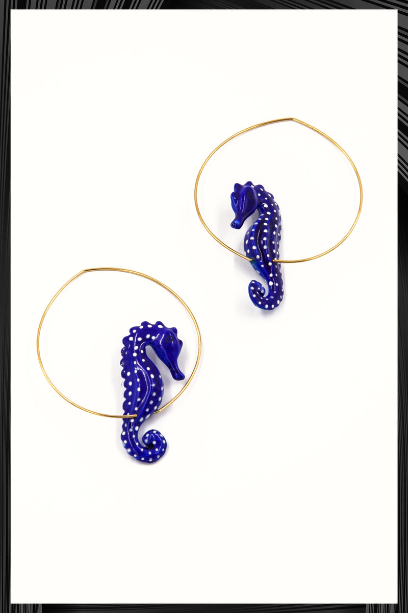 Blue Seahorse Hoops | Free Delivery - Quick Shipping