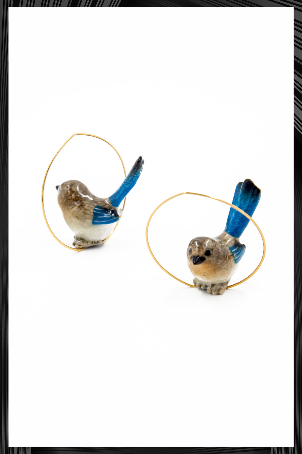 Blue Robin Hoops | Free Delivery - Quick Shipping