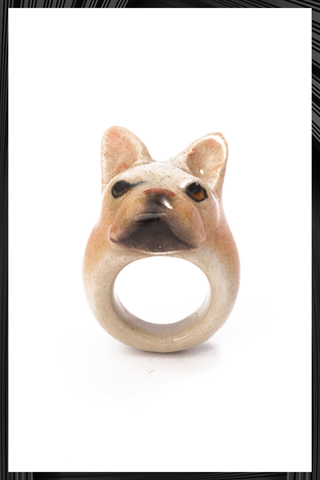 Beige French Bulldog Ring | Free Delivery - Quick Shipping