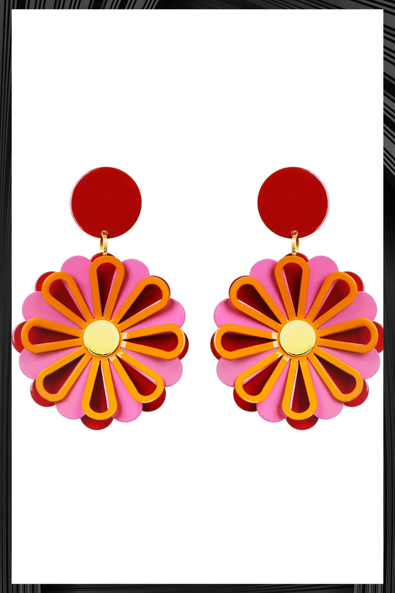 Red Daisy Earrings | Free Delivery - 2-3 Weeks Shipping