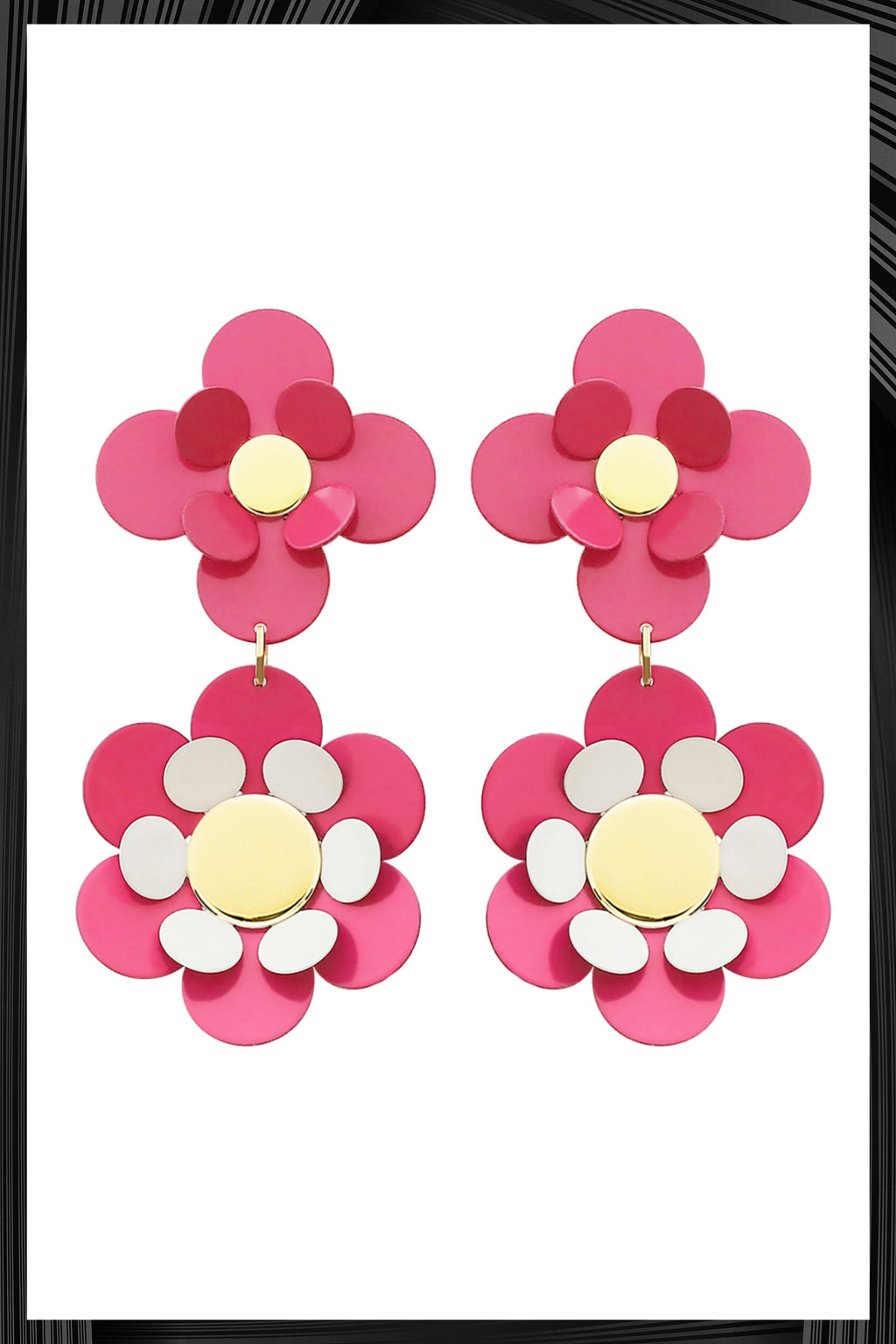 Pink Oya Earrings