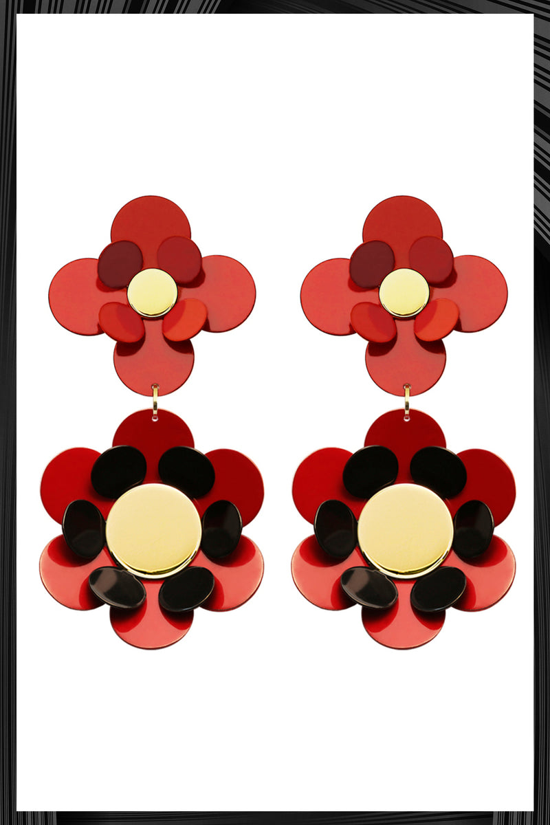 Red Oya Earrings