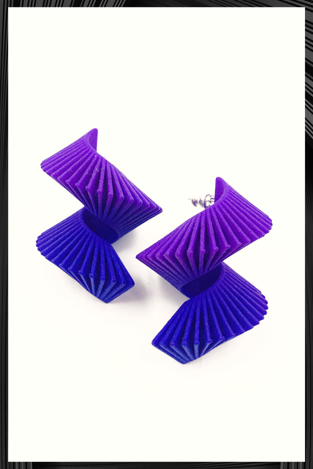Blue Midi Spiral Earrings