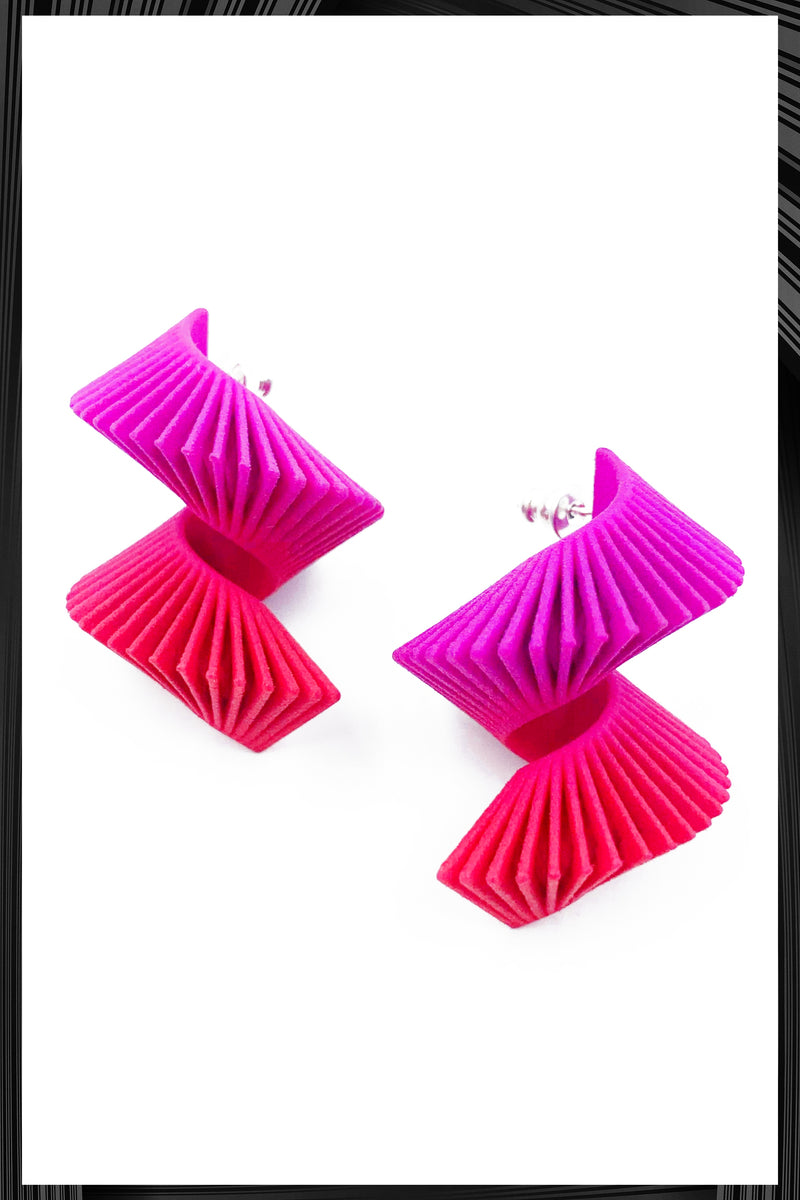Pink Midi Helix Earrings
