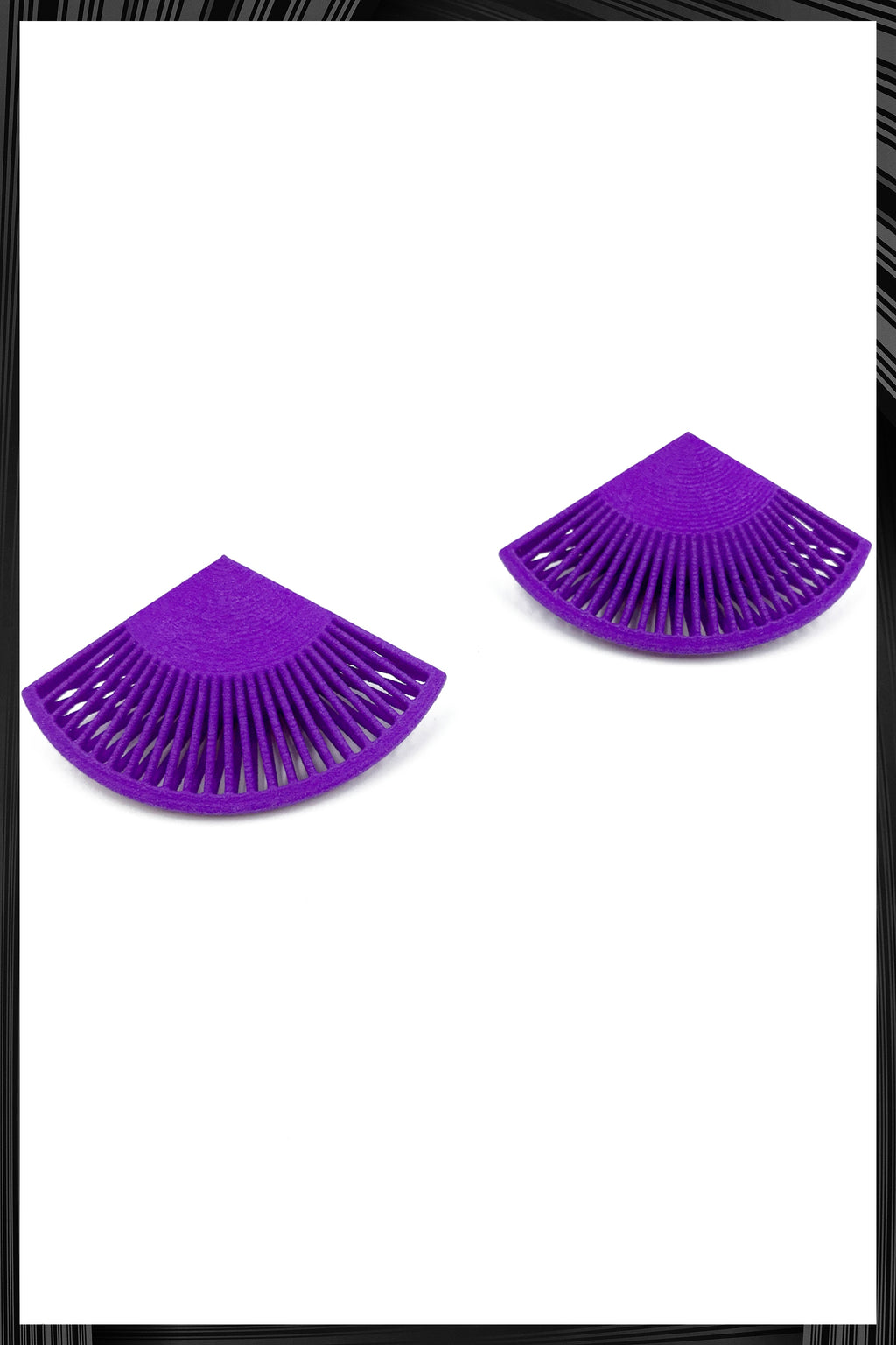 Purple Fan Earrings