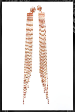 Rose Gold Long Chain Earrings