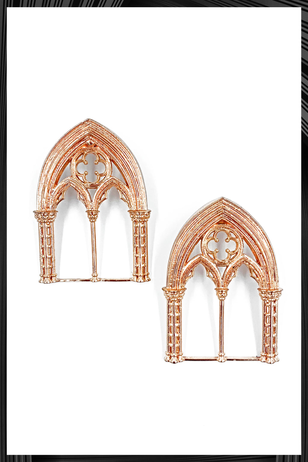 Rose Gold Church Window Earrings