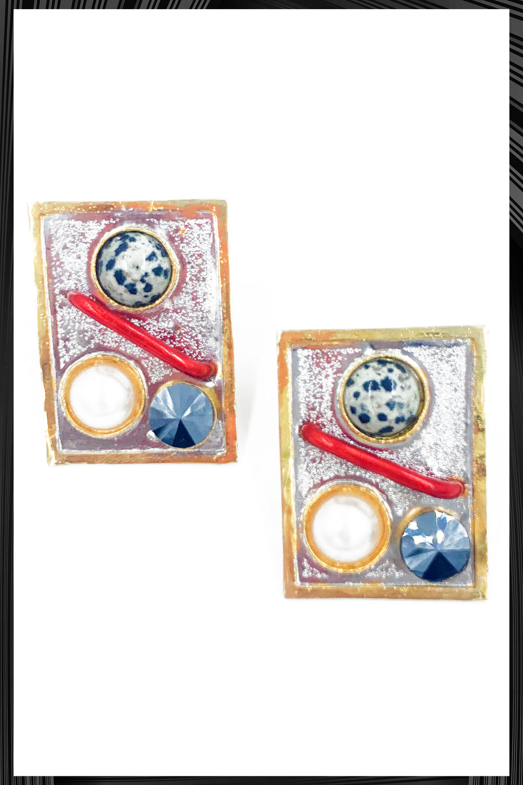 Gana Square Earrings
