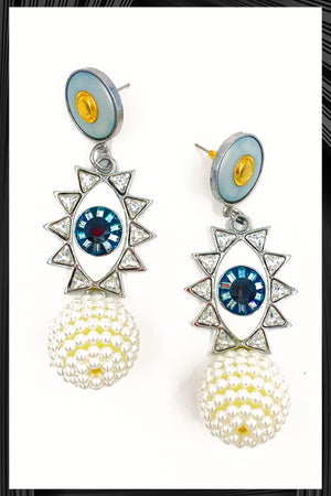 Evil Eye Dangle Earrings