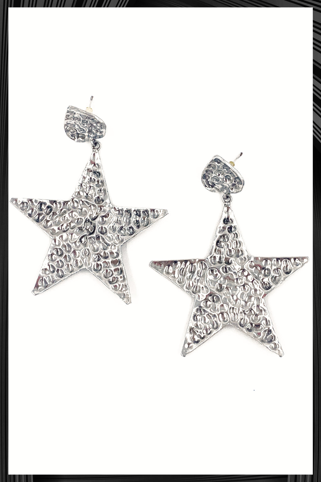 Beaten Star Earrings