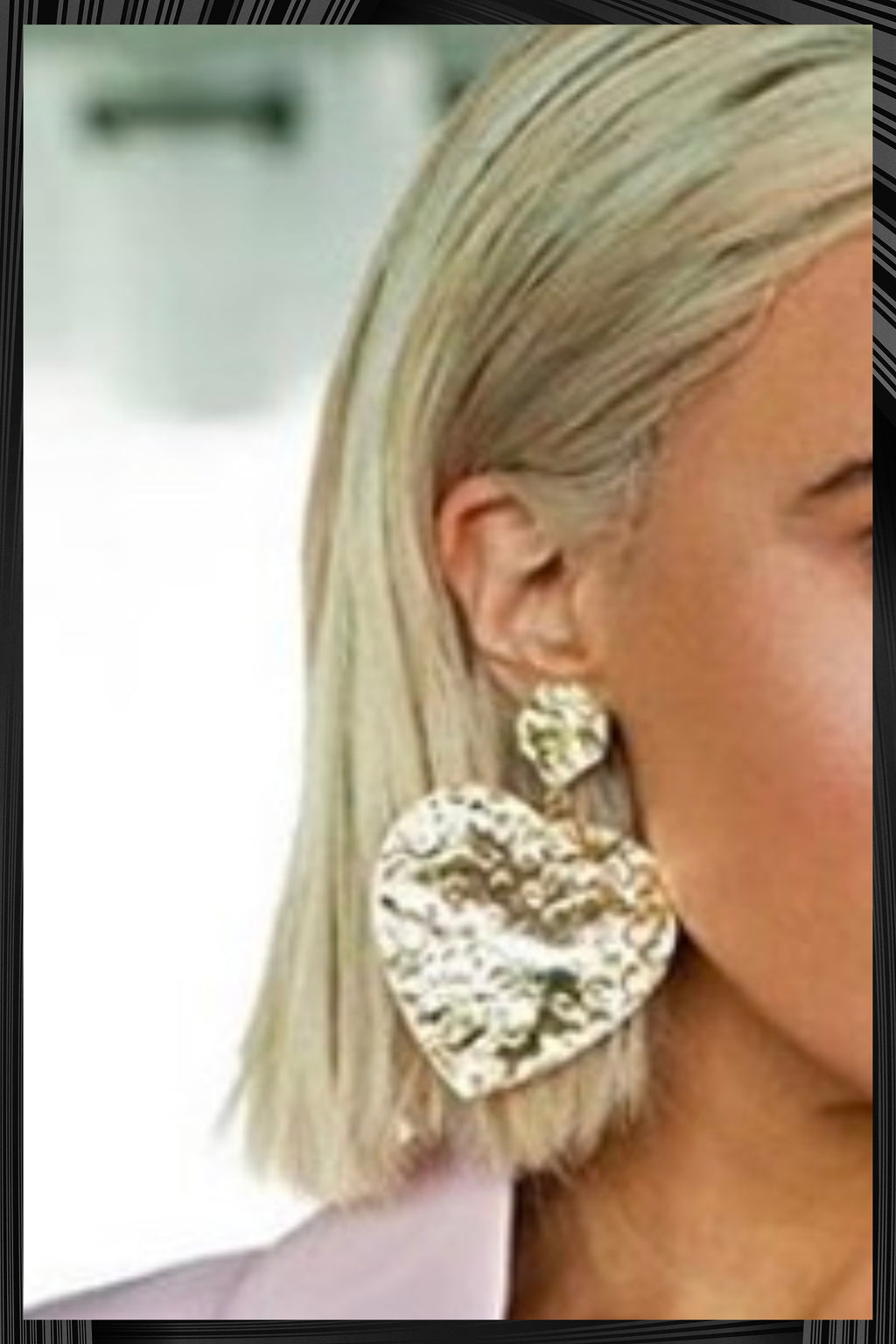 Beaten Heart Earrings