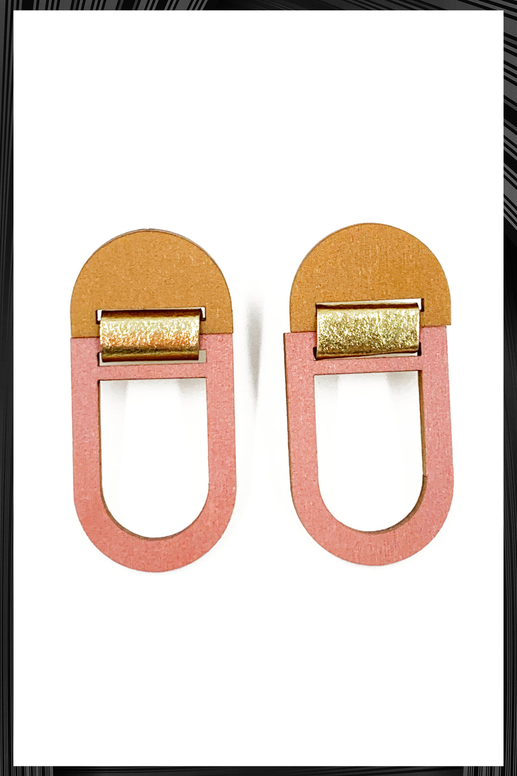 Peach U-Hoop Earrings